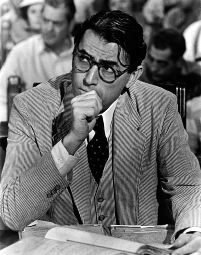 courage of atticus finch Atticus finch, a protagonist in the famous harper lee novel ''to kill a mockingbird,'' is a level-headed man who faces challenges in his profession, family, and town.